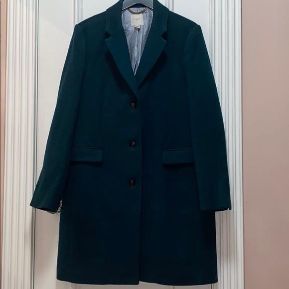 J.Crew Factory wool top coat